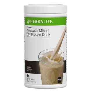 """Herbalife Formula 1 Shake """"Cookies N Cream"""""""