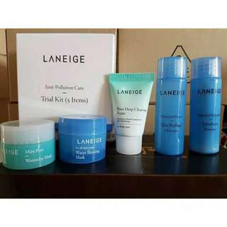 (kosong) Laneige Anti Pollution Care Trial Kit(5 Items)