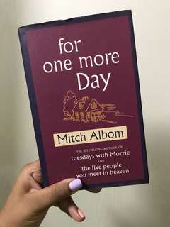 For one more day by Mitch Albom, fiction