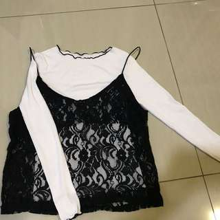 2pcs Lace Top From Korea