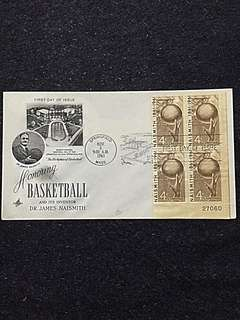US 1961 4c Basketball Blk4 FDC Stamp