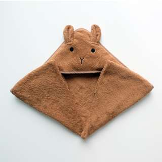 CHESTER BUNNY HOODED TOWEL IN BROWN