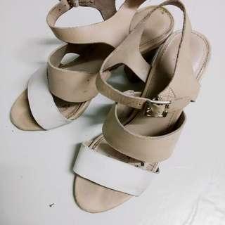 Heels block shoes