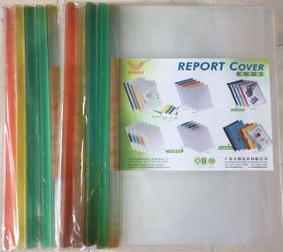Clear cover Document folders (made with recycle material)