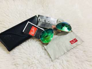 Authentic Ray ban RB3025 Green Polarised Avaitor