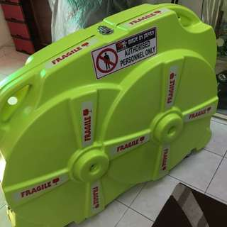 New stocks arrived. New bicycle case, hard bike case. Black or green color