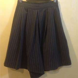Striped Navy Blue Culottes