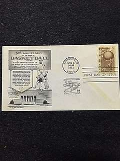 US 1961 4c Basketball FDC Stamp