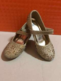 Girl Golden High Heel Shoe