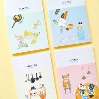 A6 Cat Cafe Cooking Time Small Notebook