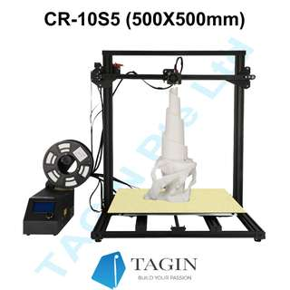CREALITY CR-10S5 3D Printer (500*500*500mm Print size), Brand New