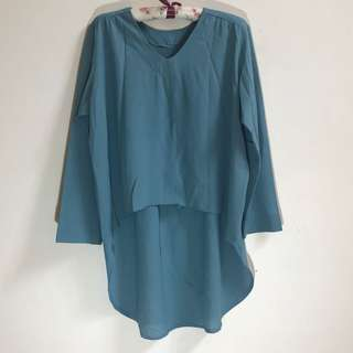 Blouse loose crepe