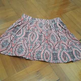 民族圖案短裙