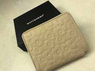 Marimekko Leather Beige Wallet
