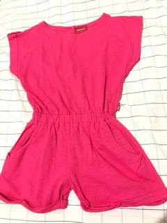 Cute pink playsuit for girls