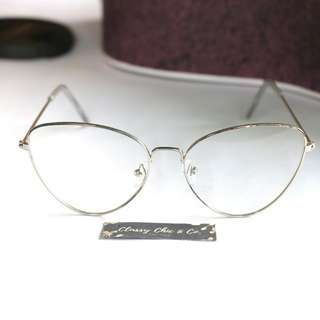 Pixy Cat eye Silver Eyeglasses (Specs nonreplaceable)