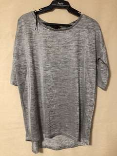 H&M silver top