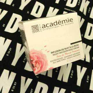 Academie Night Infusion Rose Cream 30ml 玫瑰活氧再生晚霜 原價$920