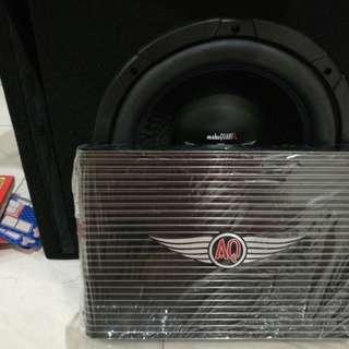 """Audio Quartz 12"""" Subwoofer with amplifier."""