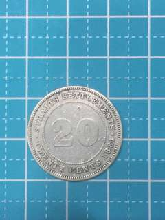 🔥Clearance🔥Straits Settlement QV Silver Coin 20 Cent Year 1881 Rare