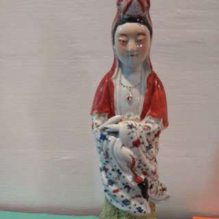 Guan Yin Goddess 请观音娘娘送福 Porcelain 瓦器免费 请回去吧