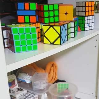 MANY DIFFERENT CUBES