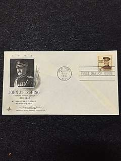 US 1961 8c General Pershing FDC Stamp