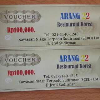 New Voucher Resto Arang Korea Resto Ga da exp Take All