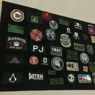 Morale patch wall display army velcro