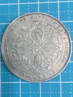 🔥Clearance🔥Straits Settlement KE VII Silver Coin One Dollar Year1907