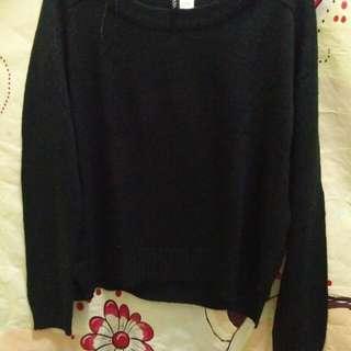 H&M divided black sweater