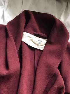 Gorgeous maroon Wilfred blazer/cardigan