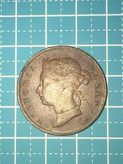 🔥Clearance🔥 Straits Settlements QV One Cent Year 1894 AU