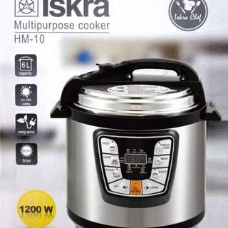 ISKRA 6L Electric Pressure Cooker Timer Rice Cooker