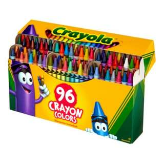 BRAND NEW 96 colours CRAYOLA crayons!