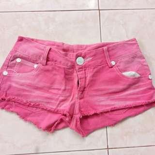 Pink Maong Shorts