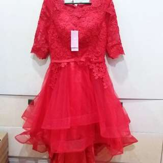 PLAIN RED CHINESE DRESS