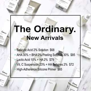 🔥[現貨] 2件9折 2 for 10% Off! The Ordinary New Arrivals