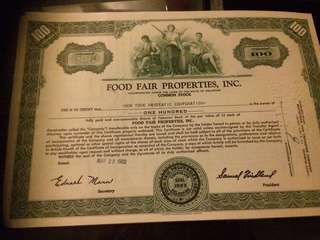 Old foreign Share Certificate