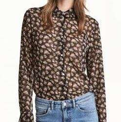 H&M Long Sleeved Chiffon Blouse