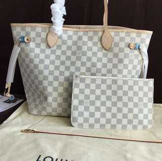 Louis Vuitton Neverfull MM in Azur canvas leather