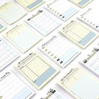 Planner Checklist Time Schedule