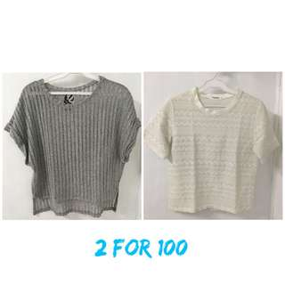 Bundle of two shirts for 100 only