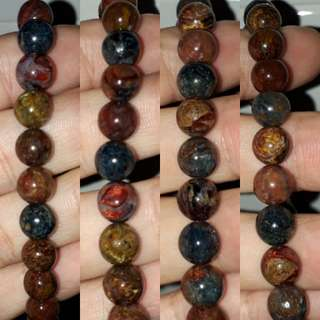 Very nice Pietersite bracelet.(彼得石手链) multiple colour and shin.