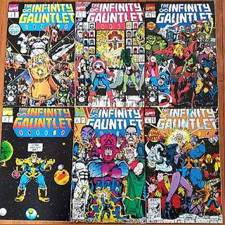 Marvel Comics Infinity Gauntlet Complete 6 Issue Mini-Series Near Mint Condition  Upcoming Avengers Infinity War Movie