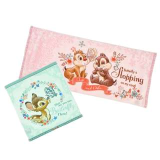 [PO] Disney Blooming Garden Towel Set Chip & Dale with Bambi