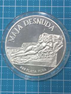 🔥Clearance🔥EQUITORIAL GUINEA SILVER PROOF 100  PESETAS Year 1970
