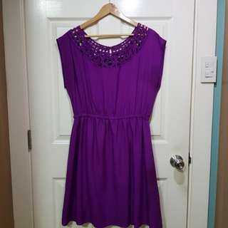 FOREVER 21+ Purple cut-out dress
