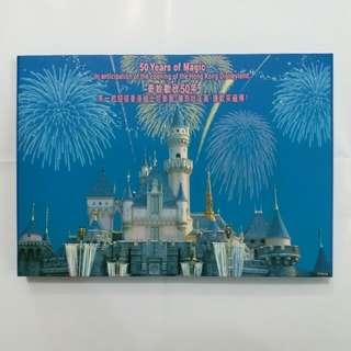 迪士尼樂園金輝慶典紀念郵票小版章及徽章套裝