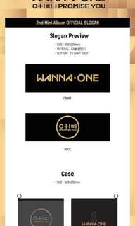 [RUSH GROUP ORDER] #WANNAONE 2nd Mini album OFFICIAL SLOGAN
